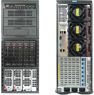 Сервер STSS Flagman EX447.2-005LH вид спереди и сзади