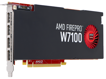 Профессиональная видеокарта AMD FirePro W7100