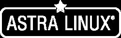Astra Linux white logo