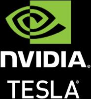 NVIDIA Tesla logo black