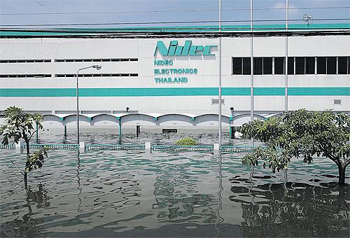Наводнение в Таиланде, завод Nidec