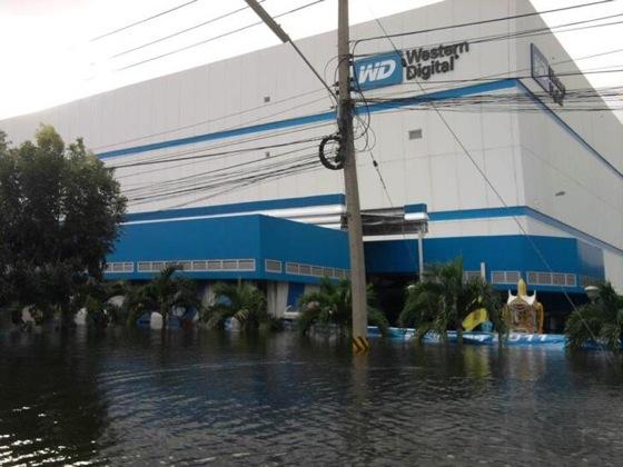 Наводнение в Таиланде, завод Western Digital
