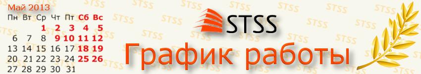 График работы компании STSS в мае 2013 года