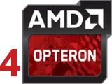 4 процессора AMD Opteron 6300